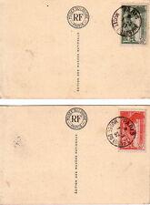 SAMOTRACE - PARIS MUSEE DU LOUVRE - 1-9-1937 - SUR 2 CARTES POSTALE DU MUSEE DU