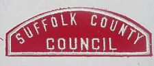 Suffolk Co Council (NY) Red & White Strip  RWS  BSA