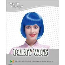 Perruques, extensions et matériel bleus courte pour femme