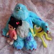 BOO mike sully soft plush cuddly sulley toy top set Monsters inc figure DISNEY..