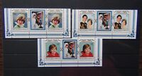 Aitutaki 1982 21st Birthday of Princes of Wales set in pairs MNH