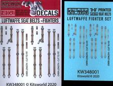 Kits World Decals 1/48 3D Seat Belt Set for German Wwii Luftwaffe Fighters