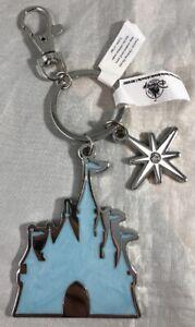 Disney Parks Frozen Elsa Arendelle Castle Charm Keychain - NEW