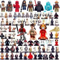 star wars minifigures Yoda Darth Vader Kylo Ren Boba Fett Mandalorian Toys