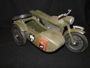 VINTAGE Action Man Cherilea German Military Motorbike & Sidecar