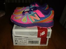 EEUC Girls Size 8.5 New Balance Running Course Athletic Shoes Bright Colors