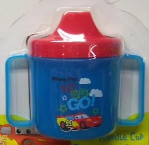 NEW DISNEY CARS SIPPY CUP WITH HANDLES, LIGHTNING MCQUEEN, MATER