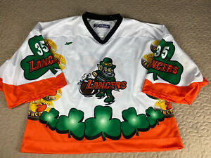 Omaha Lancers USHL Authentic Hockey Jersey St Patricks Day Palmisano Goalie FS