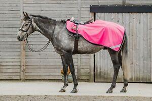 WATERPROOF Hi Viz Reflective Horse Exercise Sheet Pink Yellow Orange Fleece