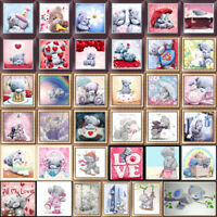 5D Cute Teddy Bear Diamond Painting Embroidery Cross Stitch Craft Home Art Decor