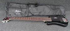HOFNER HCT-SHB-BK-0 SHORTY TRAVEL Electric BASS Guitar BLACK with Gig Bag