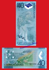SOLOMON SALOMON ISLANDS 40 Dollars 2018 Commemorative Polymer Pick NEW SC UNC