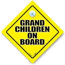 GRANDCHILDREN On Board Car Sign, Grandchild On Board, Baby On Board Car Sign,