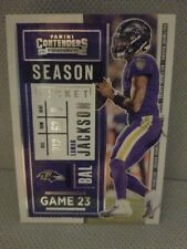 2020 panini contenders football season ticket # 93 Lamar Jackson Game 23 (Bal)