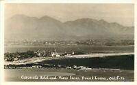 1940s San Diego California Coronado Hotel View Point Loma RPPC real photo 9286