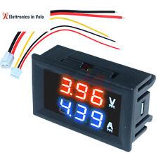VOLTMETRO AMPEROMETRO DIGITALE LCD 100V 10A DA PANNELLO MOTO,AUTO,CAMPER,BARCA