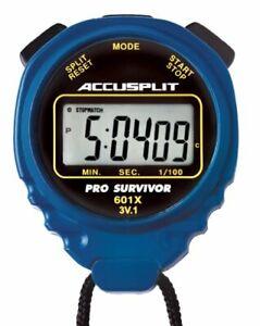 ACCUSPLIT Pro Survivor - A601X Stopwatch Clock Extra Large Display Blue