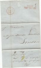 # 1847 BAHIA BRAZIL WRAPPER RED COWES SHIP LETTER PMK TO FREDr HUTH LONDON