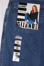 NWT Gitano Vintage style Womens Jeans relaxed fit medium wash tapered 16P (267)