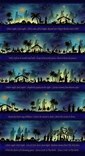 Silent Night Midnight Song Religious Christmas Fabric  23