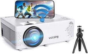 Victsing, Mini Beamer WiFi 4500 Lumen,Native 1080P Beamer Full HD, Neu Bluetooth