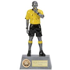 """FOOTBALL Soccer REFEREE Trophy 8.75"""" FREE ENGRAVING Personalised Award New"""