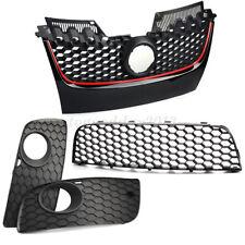 Front Bumper Fog Lights Center Lower Grilles Intake For VW Golf Jetta MK5 05-09