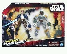 Han Solo vs. Boba Fett ( Star Wars ) Vhtf ( 2015 ) Hero Mashers Action Figures
