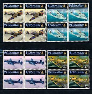 [TLC15] Giraltar 2013 - Michel 1526/29**,blocs de 4 aviation - superbe