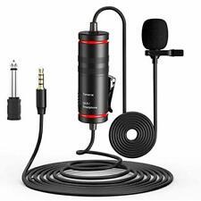 Ansteckmikrofon Lavalier Mikrofon für Handy/Kamera und PC, Rauschunterdrückung