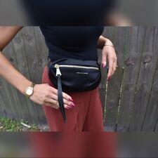 Aimee Kestenberg Bum Bag Fanny Pack Pewter Metal Pebbl Leather Crossbody Pouch