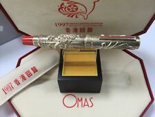 Omas limited edition 1997 return to the motherland sterling silver fountain pen