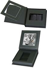 USB Flash Drive Presentation Box in black leatherette with 8x8cm photo mount