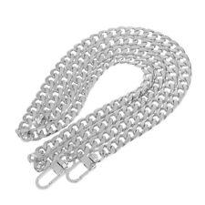120cm Umhängetasche Strap Griff Kette Ersatz für Handtasche Tasche Silber