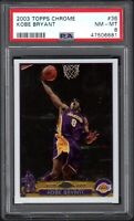 2003 Topps Chrome #36 KOBE BRYANT Los Angeles Lakers PSA 8 NM/MT