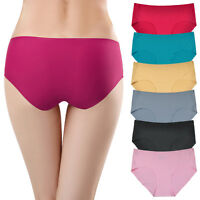 6 Pack Women Seamless Underwear Panties Sexy Low Rise Briefs Ladies Knickers