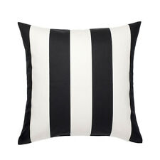"IKEA VARGYLLEN CUSHION PILLOW COVER 20 X 20"" BLACK WHITE STRIPE NEW FREE SHIP"