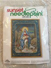 """Sunset Needlepoint """"Our Lady"""" Holy Family Nativity Christmas New Sealed"""