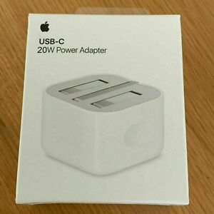 Genuine Boxed Apple iphone 12-20W USB TYPE C Power Charger Adapter UK Plug