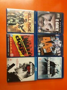 LOT OF 6 BLU RAY DISCS~THE GREY, HELL RIDE, RESERVOIR DOGS, HARD BOILED SWEETS+2