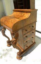 Superb Quality Victorian Burr Walnut Davenport Vintage Desk