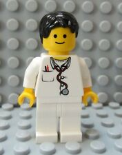 LEGO Classic Town Minifig Doctor Nurse Male Female Black Hair