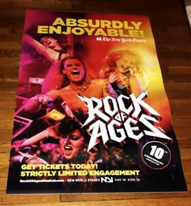 ROCK OF AGES 10TH ANNIVERSARY BROADWAY NY NYC  4FT subway POSTER #3 2019