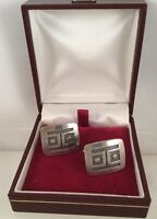 Vintage Jewellery Danish Pewter Cufflinks Antique Art Deco Jewelry Cuff Links
