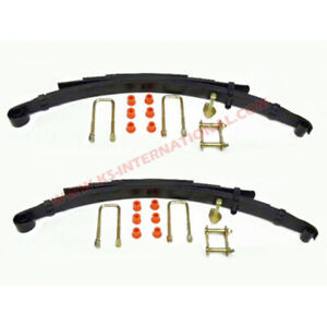 Pair of Rear Leaf Springs With Kits For Toyota Hilux LN106  / LN105 (4+3 leaves)