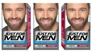 Just For Men Brush in Color Gelformel Bart Und Schnurrbart mittelbraun 3er Pack