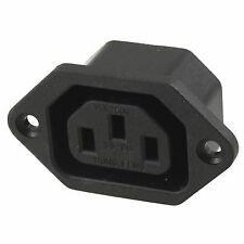 AC 250v 10a IEC 320 C13 Panel Mount Plug Connector Socket Black NB