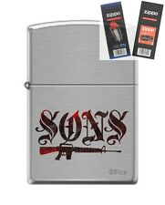 Zippo 7493 Sons of Anarchy Lighter with *FLINT & WICK GIFT SET*
