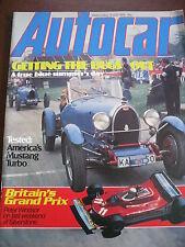 AUTOCAR MAG 21/7/1979 USA MUSTANG TURBO BUGATTI BMW 5 SERIES LINCOLN CONTINENTAL