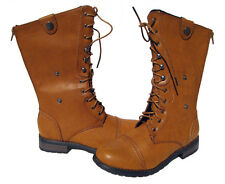 New Women's Fashion Mid Calf Boots Brown Camel winter snow Ladies shoes size 9